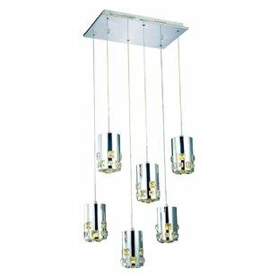 Royce 6-Light LED Cluster Pendant by Orren Ellis