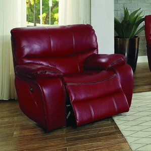 Beck Leather Recliner & Leather Red Recliners | Wayfair islam-shia.org