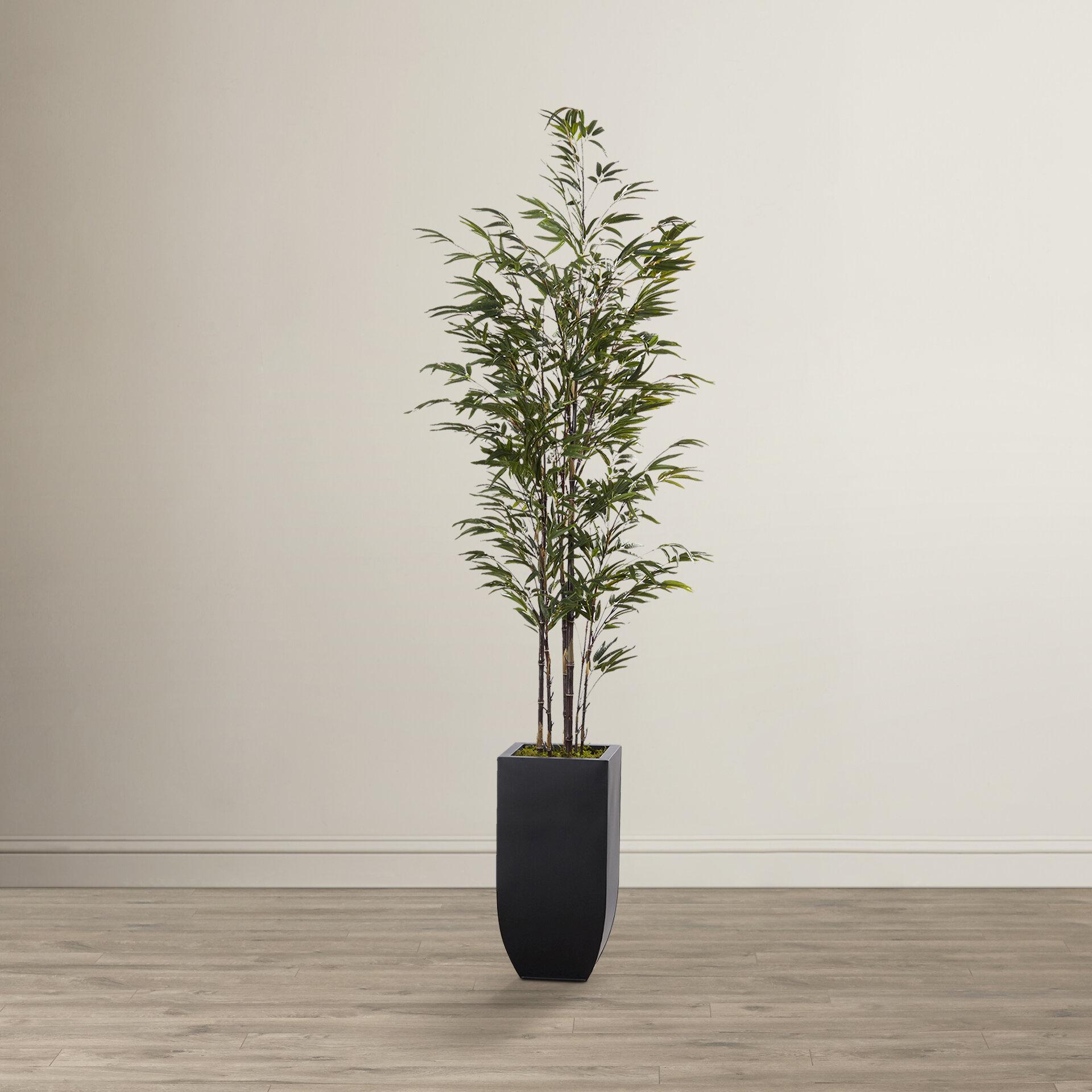 mistana artificial bamboo tree in planter & reviews | wayfair
