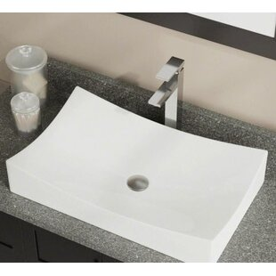 Online Reviews Vitreous China Rectangular Vessel Bathroom Sink By Polaris Sinks