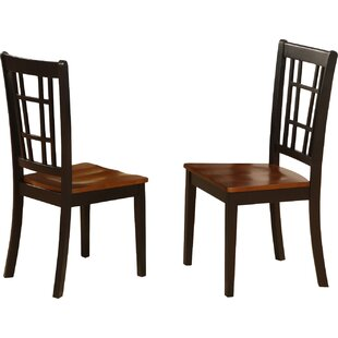 Stefanski Solid Wood Dining Chair (Set of 2) Charlton Home