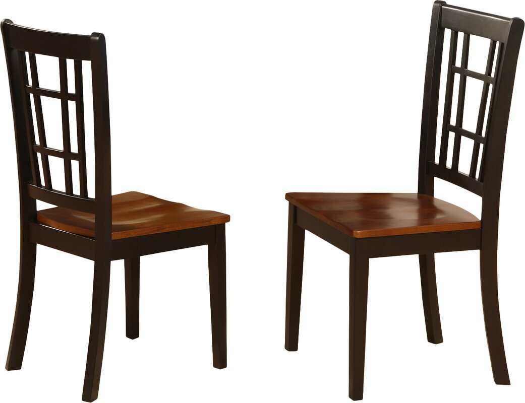 Bolivia Solid Wood Dining Chair Set Of 2 By Charlton