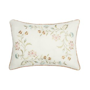 Magnus Embroidered Cotton Lumbar Pillow