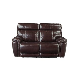 Red Barrel Studio Monty Leather Reclining Loveseat