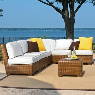 Panama Jack Outdoor St. Barths 7 Piece Sectional Set with Cushion
