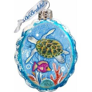 Turtle Coastal Shaped Ornament by The Holiday Aisle