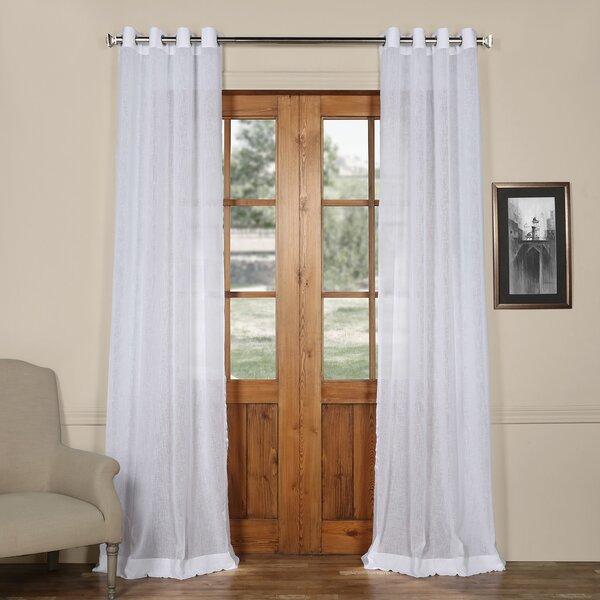 Faux Linen Sheer Curtain Wayfair