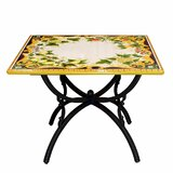 Almendarez Folding Stone Dinning Table