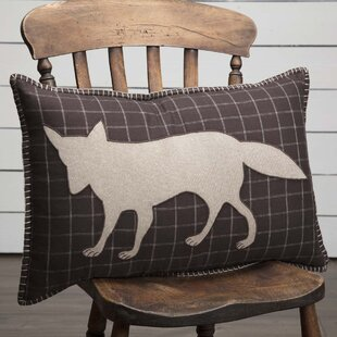 Dubay Applique Fox 100% Cotton Lumbar Pillow