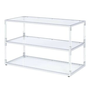 Mercer41 Tran Metal and Acrylic TV Stand for TVs up to 48