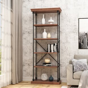 Traxler Industrial 5 Shelf Firewood Etagere Bookcase by Gracie Oaks