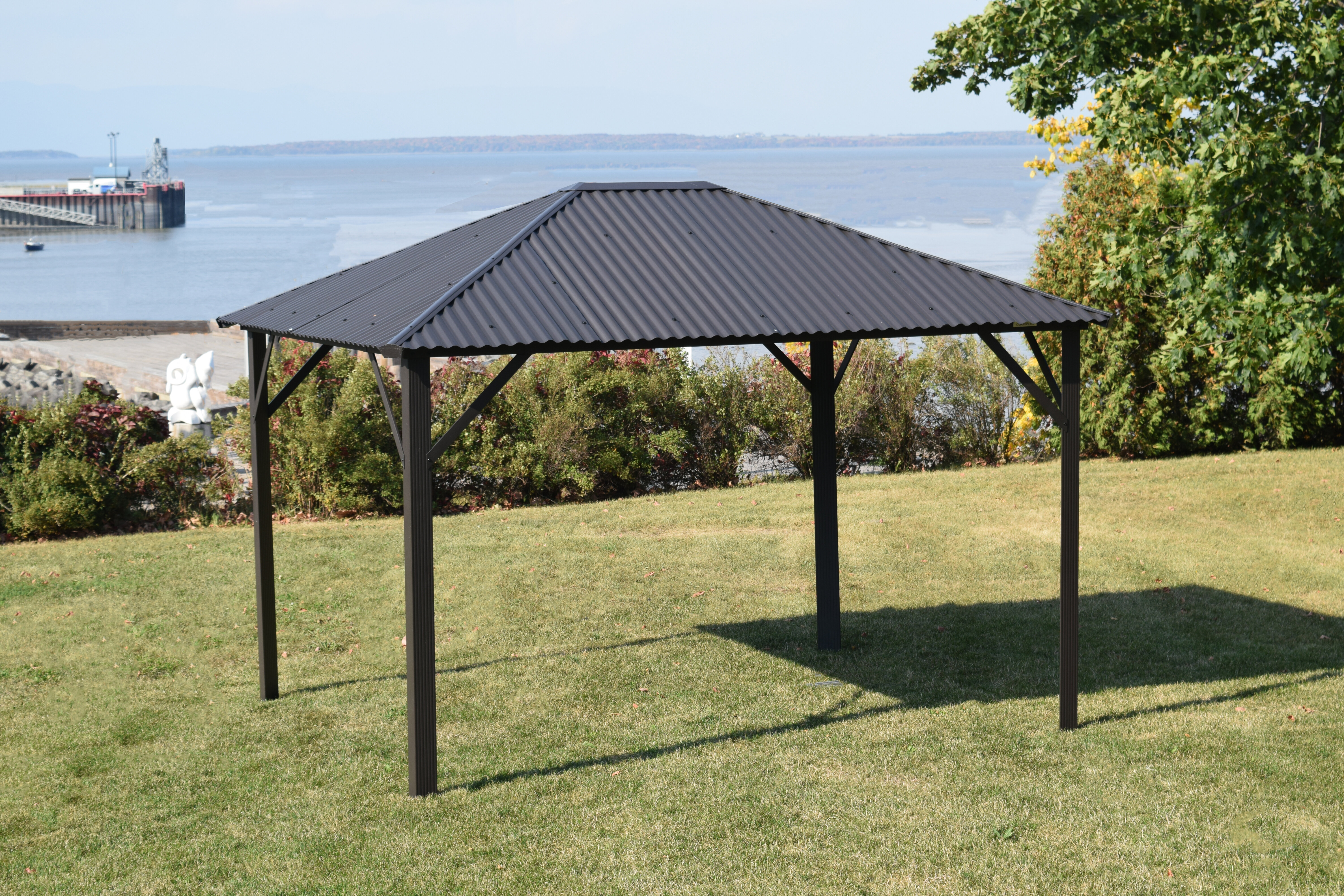 gazebo hip stratco improvement dimension products id home image patio outback