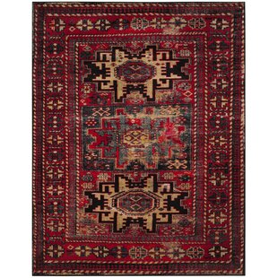 Parthenia Red Area Rug