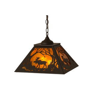 Faison Moose at Dawn 2-Light Novelty Chandelier by Millwood Pines