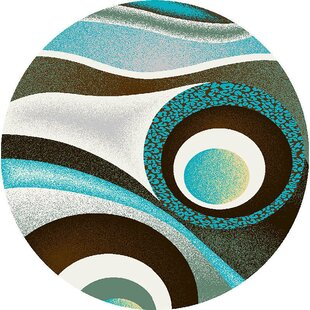 Mccampbell Brown/Turquoise/Ivory Area Rug by Ivy Bronx