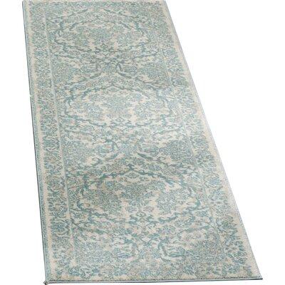 """Montelimar Oriental Ivory/Light Blue Area Rug Lark Manor Rug Size: Runner 2'2"""" x 13'"""