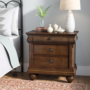 Oreana 3 Drawer Wood Bachelor's Night Stand by Three Posts