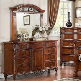 Tuscany 9 Drawer Combo Dresser with Mirror by Fairfax Home Collections
