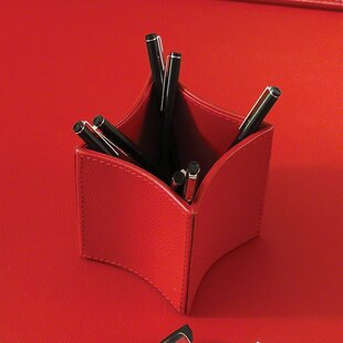 Orren Ellis Brittanie Folded Leather Pencil Cup