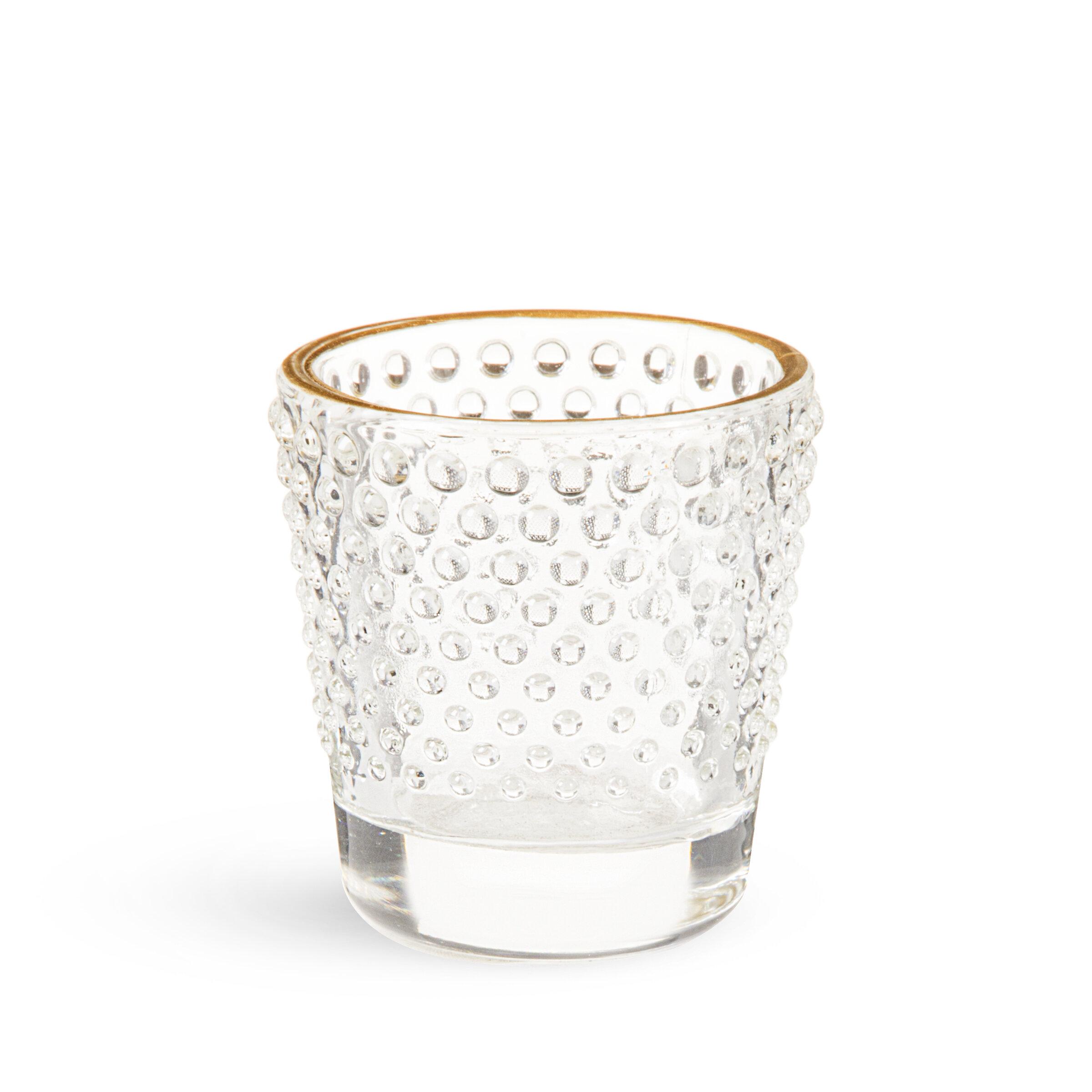 David Tutera Hobnail Small Glass Votive Holder Reviews Wayfair