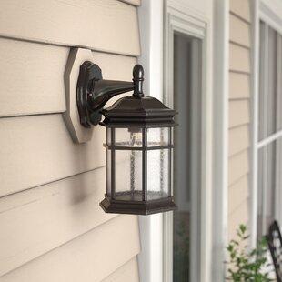Derosier Contemporary 1-Light Outdoor Wall Lantern by Three Posts