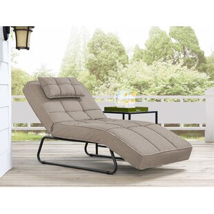 Latitude Run Andrew Outdoor Convertible Chaise Lounge with Cushion