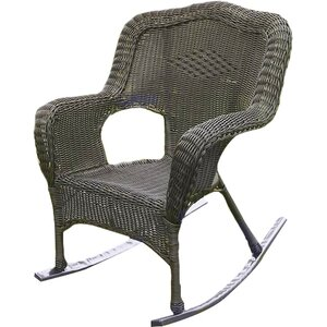 Narron Wicker Resin Outdoor Rocking Chair (Set of 2)
