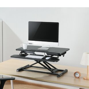 Affordable Price Kanode Height Adjustable Standing Desk Converter By Symple Stuff