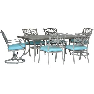 Charlton Home Woen 7 Piece Dining Set with Cushion