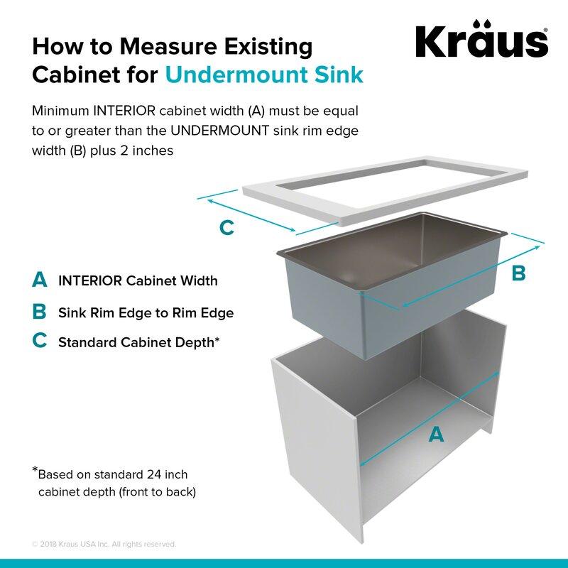 Kraus 30 L X 18 W Undermount Kitchen Sink With Basket Strainer