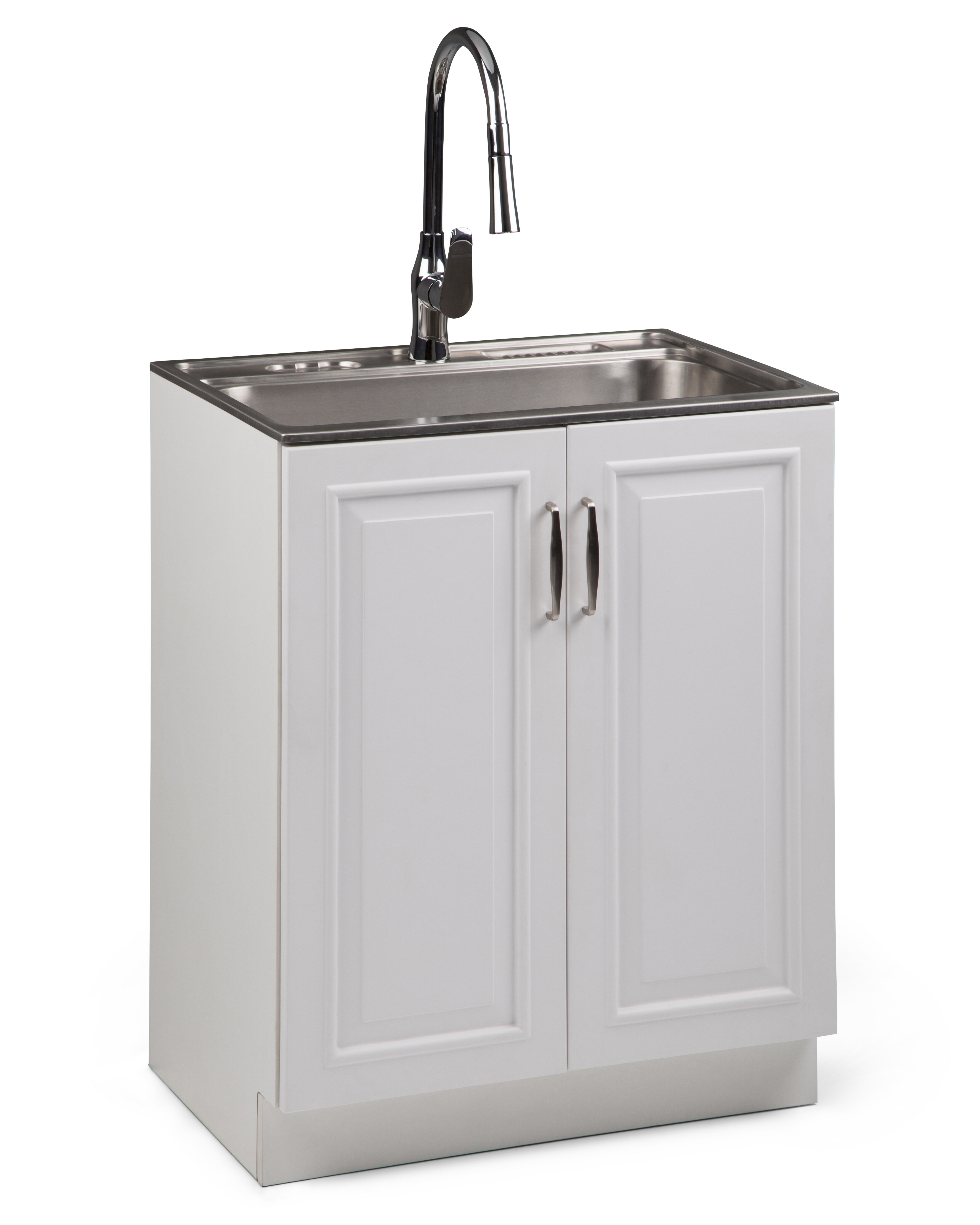 Darby Home Co Botelho 28 X Freestanding Laundry Sink With Faucet Wayfair