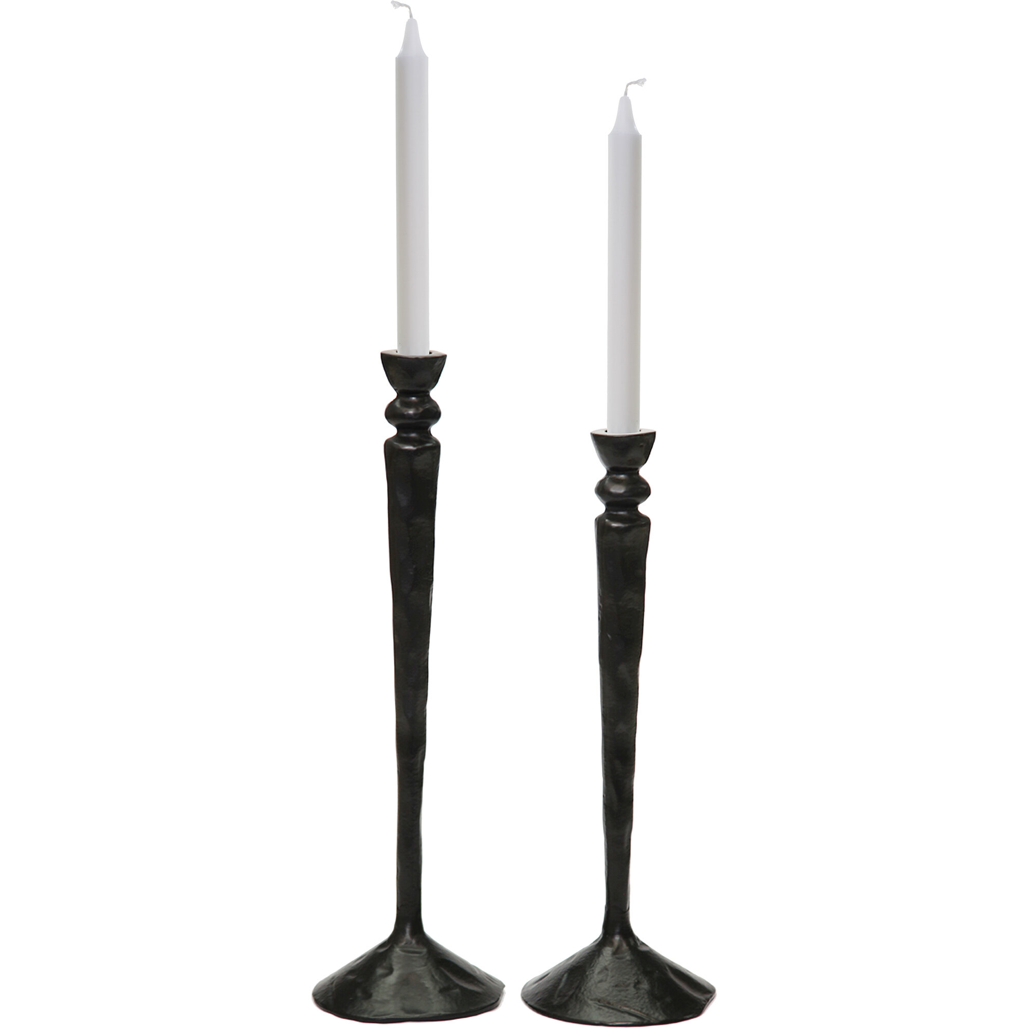 Gracie Oaks 2 Piece Tall Metal Candlestick Set Wayfair