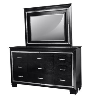 Reena 9 Drawer Dresser with Mirror