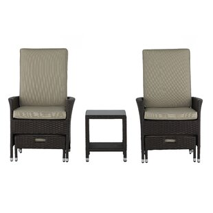 Serta at Home Laguna 5 Piece Conversation Set with Cushions