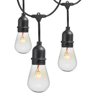 Affordable 15-Light Commercial Grade Outdoor Weatherproof String Lights By Newhouse Lighting