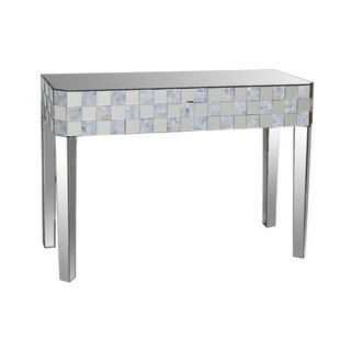 House of Hampton Baggett Frosted Chequered Pattern Console Table