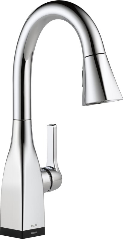 Mateo Pull Down Touchless Single Handle Kitchen Faucet With And Magnae Docking Touch2o