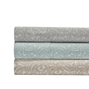 Agueda Paisley Print 300 Thread Count 100% Cotton 4 Piece Sheet Set