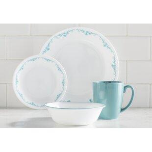 Livingware Garden Lace 16 Piece Dinnerware Set Service for 4  sc 1 st  Wayfair & Dinnerware Sets
