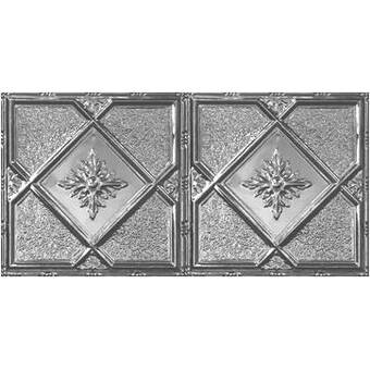 Chelsea Decorative Metal Co Turn Of The Century 2 Ft X 4 Ft Tin Plated Steel Tile Reviews Wayfair