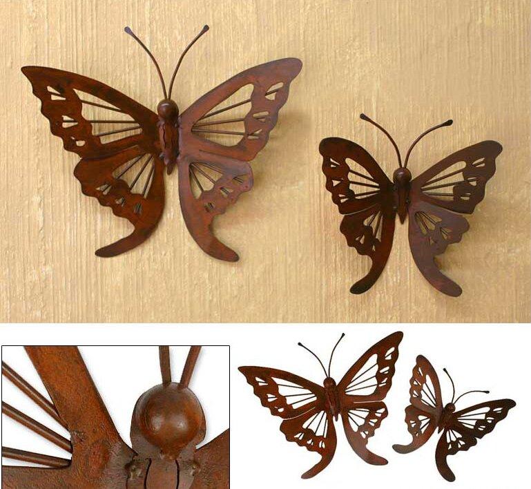 Novica 2 Piece Butterfly Wall Décor Set & Reviews | Wayfair