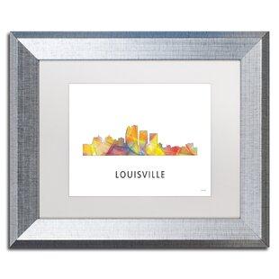 Louisville wayfair louisville kentucky skyline wb 1 by marlene watson framed graphic art solutioingenieria Gallery