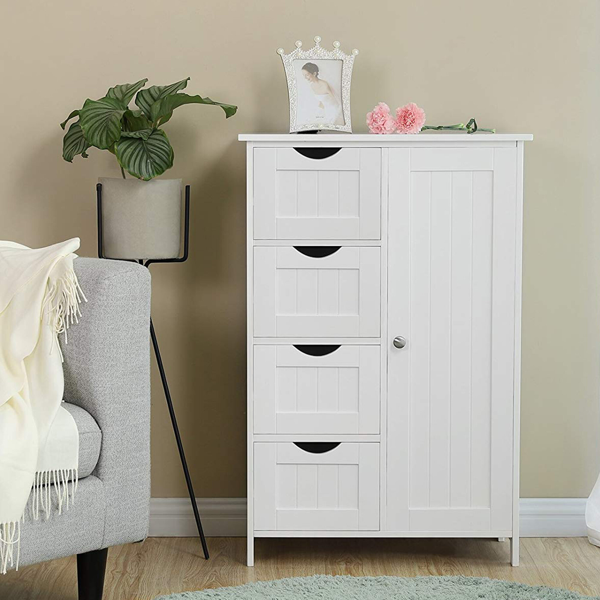Rosecliff Heights Neo 21 7 W X 31 9 H X 11 8 D Free Standing Bathroom Cabinet Wayfair