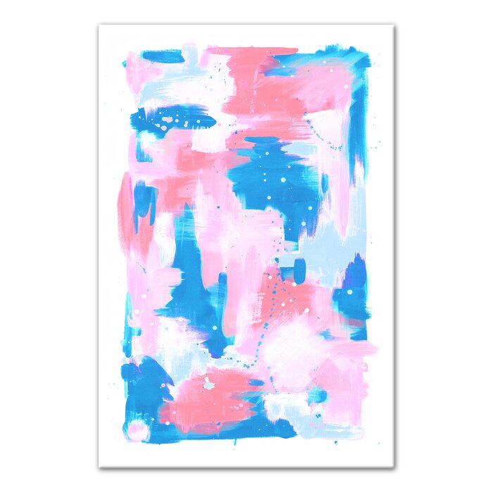 Pink Abstract Art Canvas