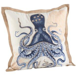 Neptunian Octopus Cotton Throw Pillow
