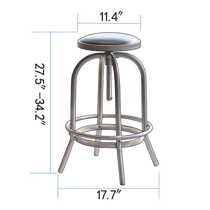 Admirable Halsted Adjustable Height Swivel Bar Stool Machost Co Dining Chair Design Ideas Machostcouk