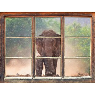 Sweet Elephant Baby With Elephant Mother Wall Sticker By East Urban Home