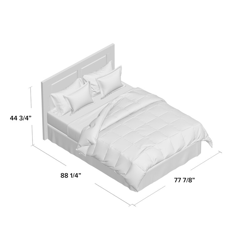 Full//Queen or King Size Down Alternative Reversible Comforter Ultra Soft Twin