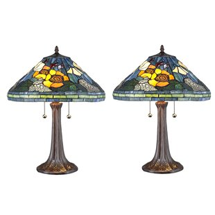 August Grove Quince Golden Poppy Table Lamp