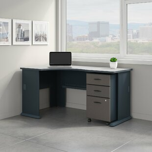 Compare prices Series A Left Corner L-Shape Desk with File Cabinet By Bush Business Furniture